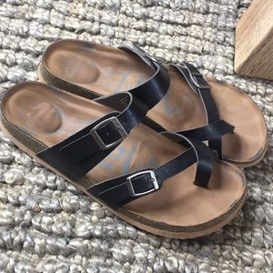 Black Birkenstock Dupes Target Sandals